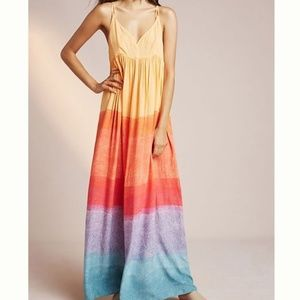 ANTHROPOLOGIE SETTING SUN MAXI DRESS - Size XS